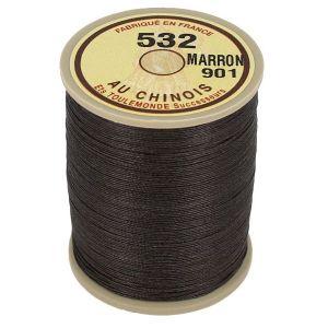 Bobine fil de lin au chinois câblé glacé - 532 - MARRON 901
