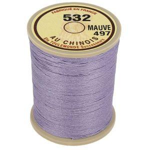 Bobine fil de lin au chinois câblé glacé - 532 - MAUVE 497