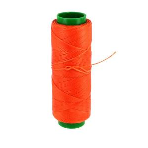 Bobine de fil polyester tressé et ciré - 100 mètres - diam 1 mm - ORANGE