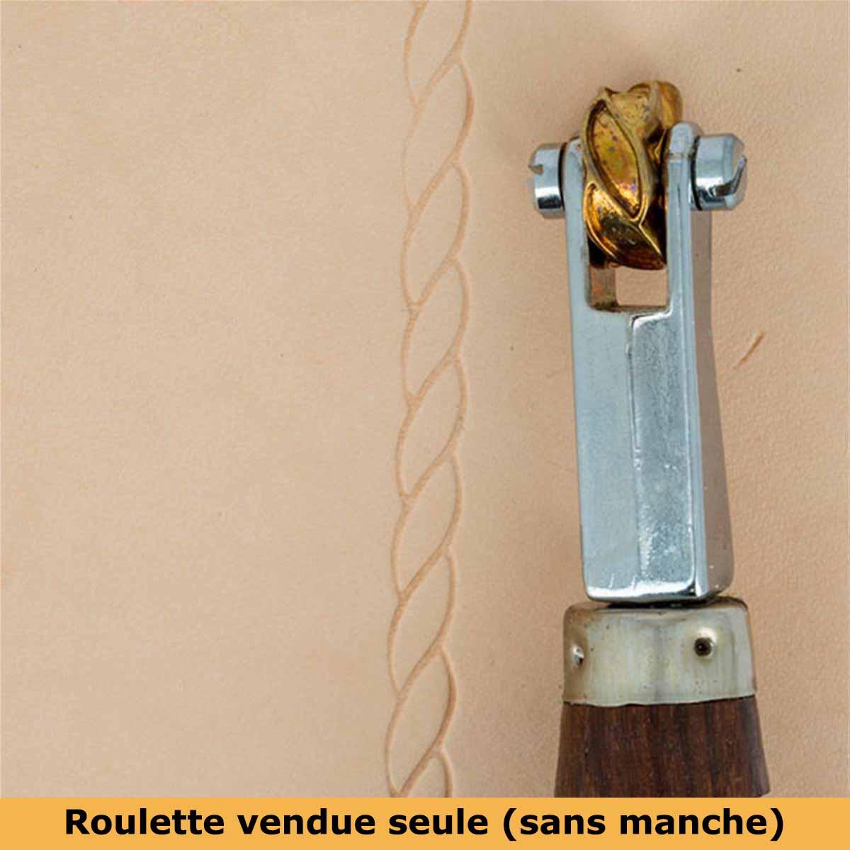 Roulette d'embossage 8091-16 montée sur manche