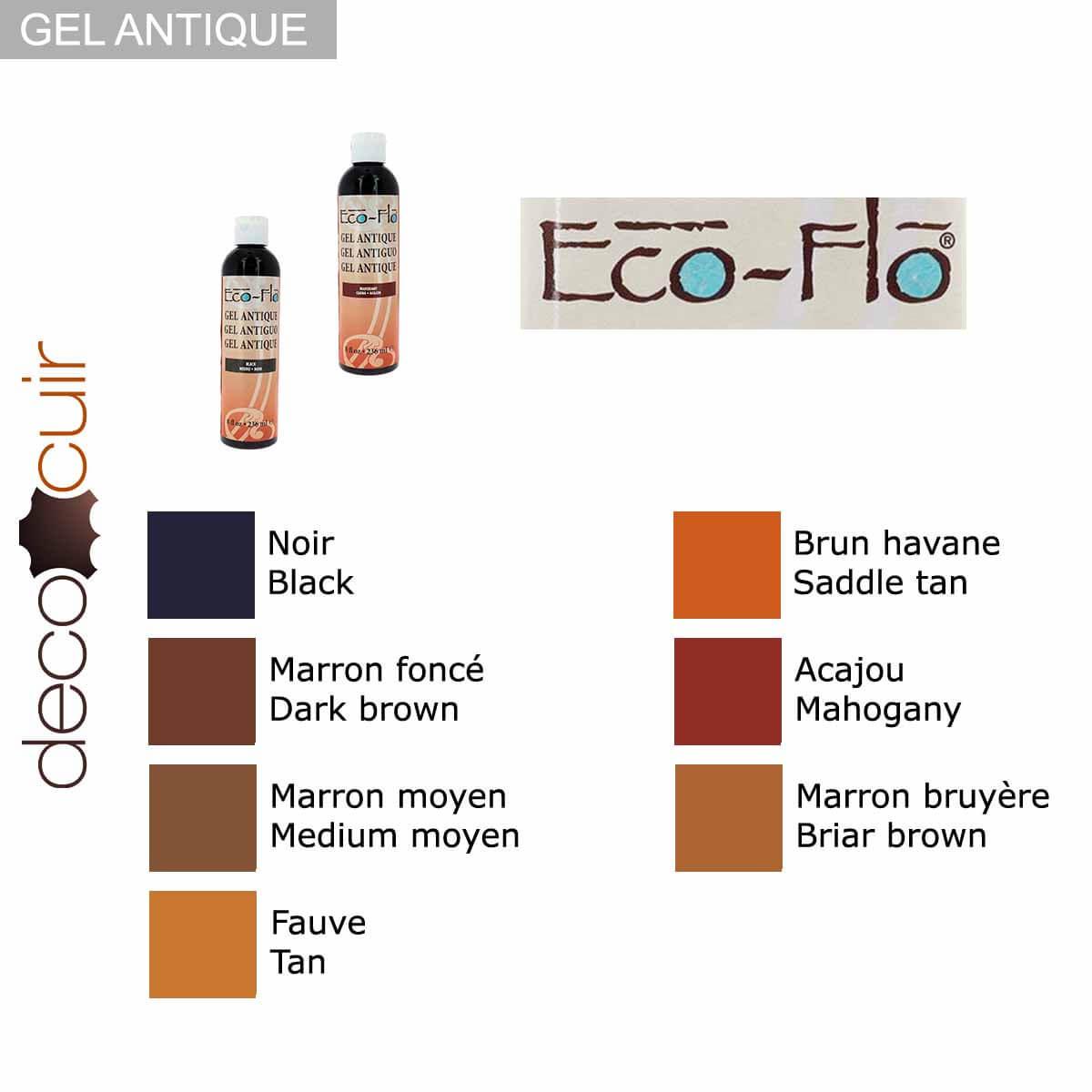 Teinture pour cuir Gel Antique - HAVANE / TAN - Eco-Flo