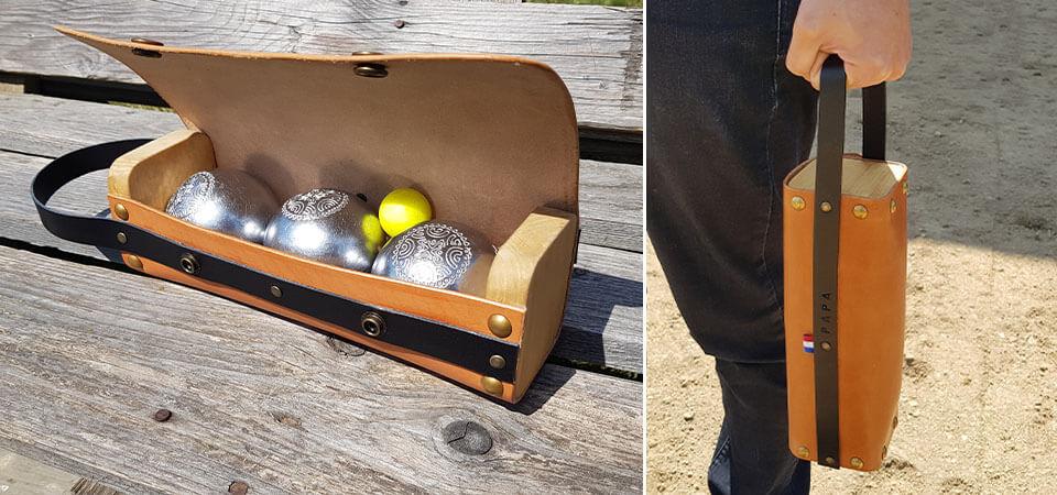Tuto - Confectionner une sacoche en cuir pour boules de pétanque