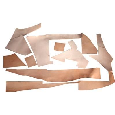 500 g de chutes de cuir de collet tannage végétal naturel - Ép 3,8 mm