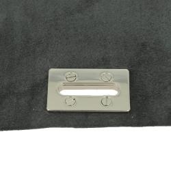 Oeillet rectangle à visser - NICKELÉ - 33 x 7,5 mm