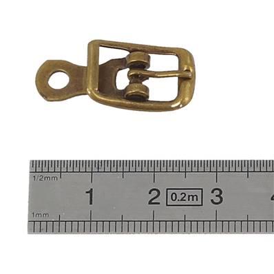 Boucle à ardillon avec chape - LAITON VIEILLI - 8 mm
