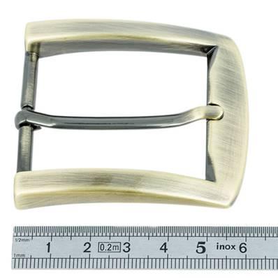 Boucle de ceinture rectangle - LAITON VIEILLI SATINE - 40 mm