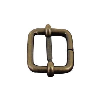 Boucle coulissante - Laiton vieilli - 20 x 18 mm - Fil 4 mm