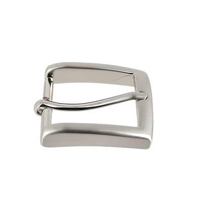 Boucle de ceinture MAX - NICKELE SATINE - 30 mm