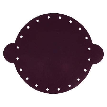 Cuir déja coupé pour faire une bourse en cuir PRUNE - Diamètre 25 cm