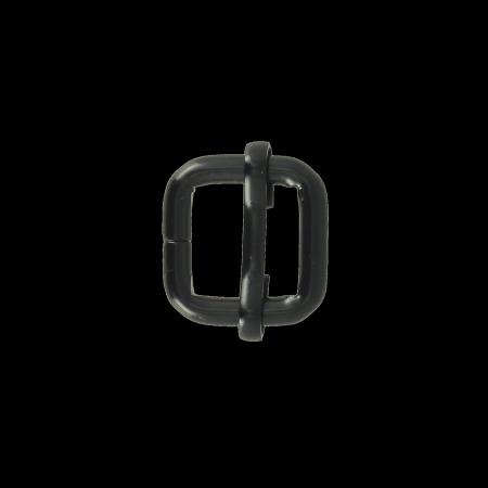 Boucle coulissante - NOIR MAT - 15x15 mm - Fil 4 mm
