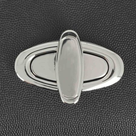 Fermoir ovale pour sac - NICKELE - 63x31 mm