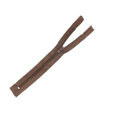 Fermeture à glissière NYLON #4 - MARRON - Longueur 18 cm