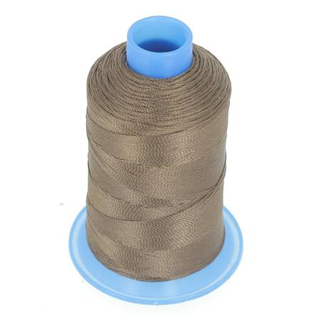 Bobine de fil polyester retors N° 30 - 400 mètres - CHOCOLAT