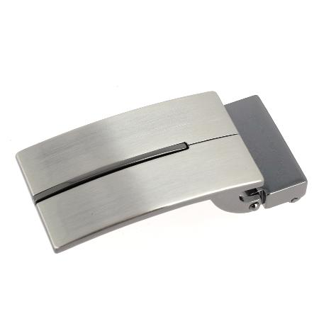 Boucle de ceinture à griffe SOK - NICKELÉ SATINÉ - 35 mm
