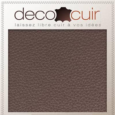 Morceau de cuir GRANITE - CHOCOLAT - 30x40 cm - Ép 1,4 mm