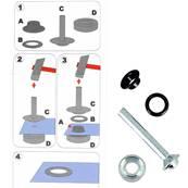 Kit Oeillets à rouler et outil de pose - 8 mm - NOIR