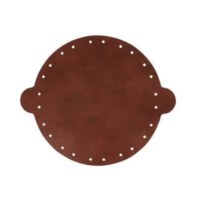Cuir déjà coupé pour faire une bourse en cuir MARRON MARBRÉ - Diamètre 20 cm