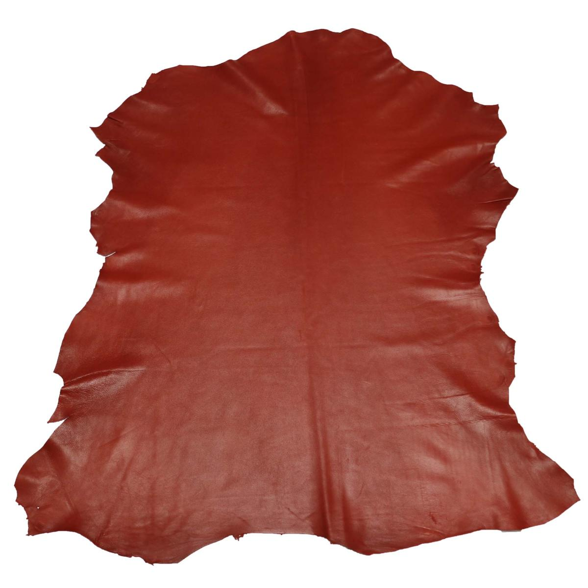 Peau de cuir d'agneau nappa - BRIQUE C30   Deco cuir