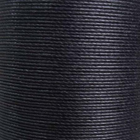 Bobine de 80m de fil de lin ciré MeiSi super fine M50 - 0,55 mm - NOIR - MS001