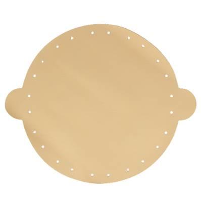 Cuir déja coupé pour faire une bourse en cuir BEIGE - Diamètre 25 cm