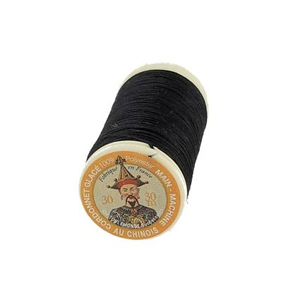 """Cordonnet 100% polyester """"Au Chinois"""" - Bobine de 30 mètres - NOIR 180"""