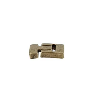 Fermoir bijou ISA aimanté - Lacet plat 13 mm - LAITON MAT