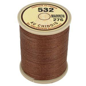 Bobine fil de lin au chinois câblé glacé - 532 - MARRON CLAIR 276
