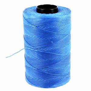 Bobine de fil polyester tressé et ciré - 500 mètres - diam 0,8 mm - BLEU AZUR