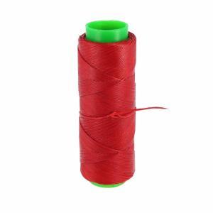 Bobine de fil polyester tressé et ciré - 100 mètres - diam 1 mm - ROUGE