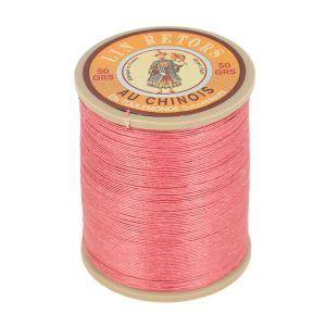 Bobine fil de lin au chinois retors extra glacé n°24 - VIEUX ROSE 600