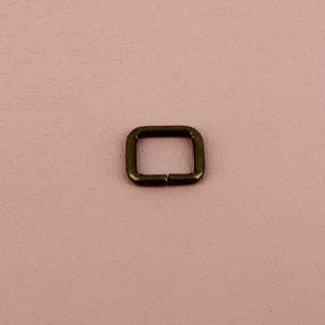 Passant rectangulaire - LAITON VIEILLI - 10 x 8 mm - Fil 2 mm