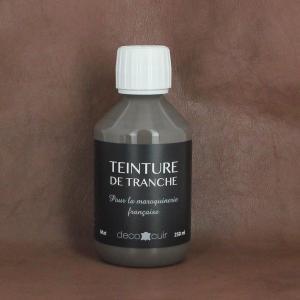 Finition de tranche GRIS MAT pour cuir - Deco Cuir - 250 ml