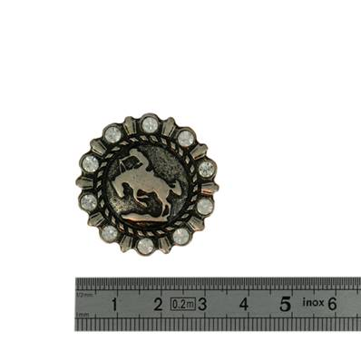 Concho RODEO - 32 mm - Argent vieilli