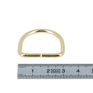 Anneau demi rond - acier DORÉ CLAIR - 25x20x3 mm