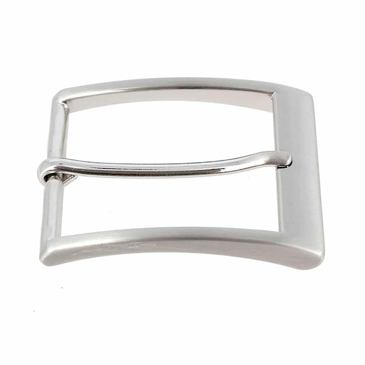 Boucle de ceinture JAK - NICKEL FREE SATINÉ - 40 mm
