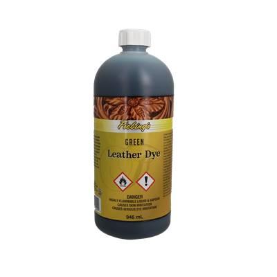 Teinture pour cuir FIEBING'S Leather dye - VERT - GREEN - bidon de 946ml