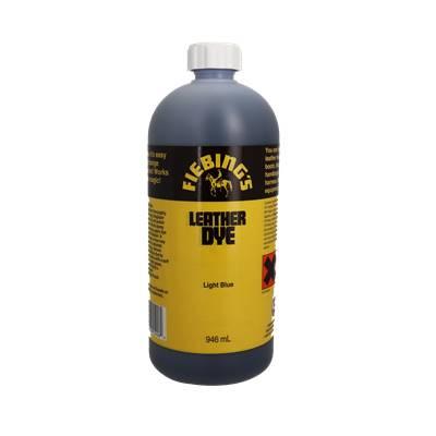 Teinture pour cuir FIEBING'S Leather dye - BLEU - BLUE LIGHT - Bidon de 946ml