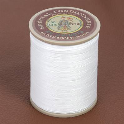 Fil Spécial Cordonnerie 100% polyester - Bobine 750 m - BLANC 100