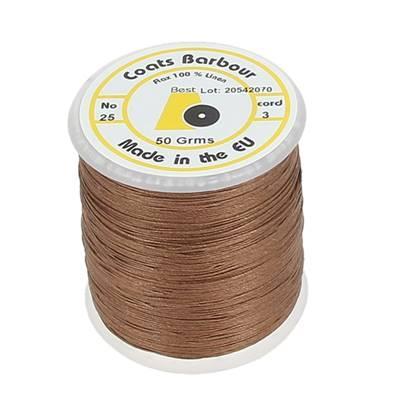 Bobine de fil de lin satiné COATS BARBOUR - 25/3 - 532 - MARRON