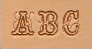 """Jeu de 26 lettres de l'alphabet - Ecriture script - 1,91 cm - 3/4"""""""