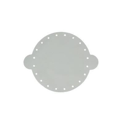 Cuir déja coupé pour faire une bourse en cuir GRIS CLAIR - Diamètre 14,5 cm