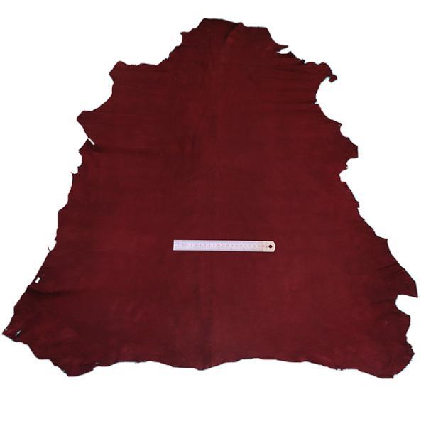 Peau de cuir d'agneau velours - BORDEAUX 937