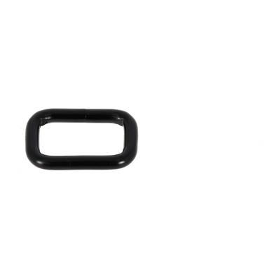 Passant rectangulaire - NOIR MAT - 16x9 mm - Fil 2,8 mm