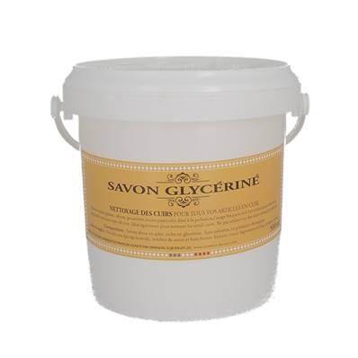 Savon glycériné pour nettoyer les tâches d'origine naturelle - seau de 500g + éponge