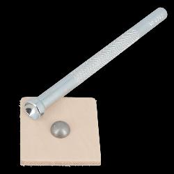 Lot de 100 rivets double calotte BOMBES 10 mm - VIEUX NICKEL