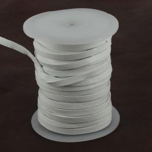 Lacet en cuir plat - largeur 5 mm - BLANC