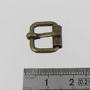 Boucle à rouleau à ardillon - LAITON VIEILLI - 10 mm
