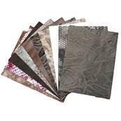 Lot SURPRISE de 10 morceaux de cuir DIVERS de dimension 15x20 cm - FANTAISIE