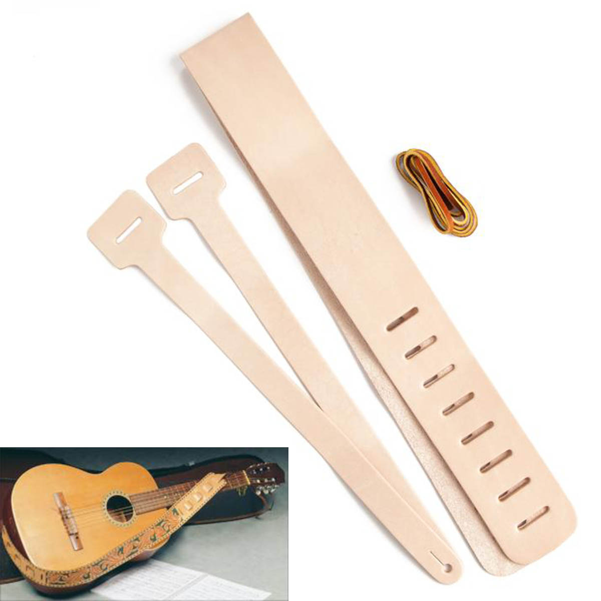 Kit pour sangle de guitare en cuir - 44421