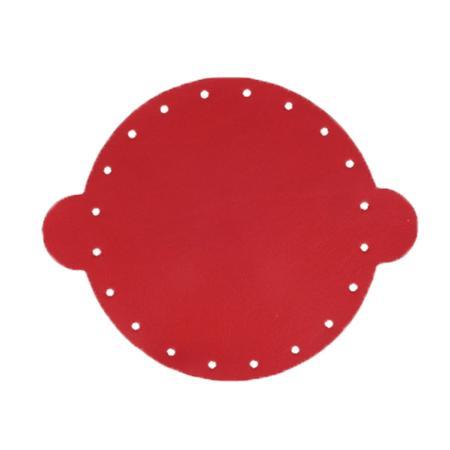 Cuir déja coupé pour faire une bourse en cuir ROUGE - Diamètre 20 cm